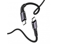 Cablu Date si Incarcare USB Type-C la USB Type-C Usams SJ290, 2 m, Negru, Blister SJ290TC01