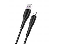 Cablu Date si Incarcare USB la USB Type-C Usams SJ376, Fast Charge, 5A, 1 m, Negru, Blister SJ376USB01