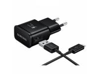 Incarcator Retea cu cablu MicroUSB Samsung EP-TA20EBE, Fast Charge, 1 X USB, Negru, Swap, Bulk