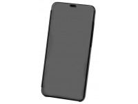 Husa Plastic OEM Clear View pentru Samsung Galaxy A51, Neagra, Blister
