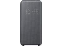 Husa Textil Samsung Galaxy S20 G980, Led View, Gri, Blister EF-NG980PJEGEU