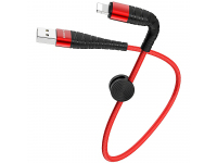Cablu Date si Incarcare USB la Lightning Borofone BX32 Munificent, 0.25 m, Rosu, Blister
