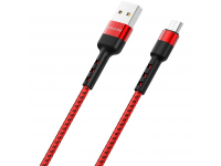 Cablu Date si Incarcare USB la MicroUSB Borofone BX34 Advantage, 1 m, Rosu, Blister