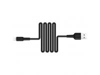 Cablu Date si Incarcare USB la Lightning Borofone BX30 Silicone, 1 m, Negru, Blister