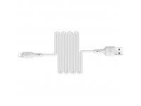 Cablu Date si Incarcare USB la Lightning Borofone BX30 Silicone, 1 m, Alb, Blister