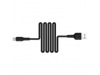 Cablu Date si Incarcare USB la MicroUSB Borofone BX30 Silicone, 1 m, Negru, Blister