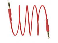 Cablu Audio 3.5 mm la 3.5 mm Borofone, 1 m, Rosu, Blister