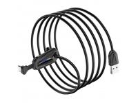 Cablu Date si Incarcare USB la USB Type-C Borofone BU9 Unreal gaming, 2A, 1.2 m, Negru, Blister