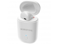 Handsfree Casca Bluetooth Borofone BC19 Hero Sound, cu suport incarcare, Alb, Blister