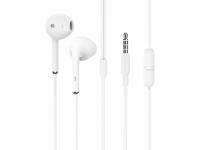 Handsfree Casti EarBuds Borofone BM46 Echo, Cu microfon, 3.5 mm, Alb, Blister