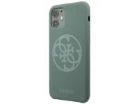 Husa TPU Guess pentru Apple iPhone 11, 4G Silicone Tone, Kaki, Blister GUHCN61LS4GKA