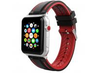 Curea Ceas TPU Tech-Protect FENDY pentru Apple Watch 1/2/3/4/5 (42/44MM), Neagra-Rosie, Blister