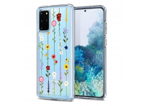 Husa TPU Spigen CIEL pentru Samsung Galaxy S20 Plus G985, FLOWER GARDEN, Transparenta, Blister ACS00763