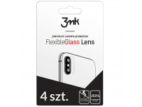 Folie Protectie Camera spate 3MK pentru Apple iPhone 11, Sticla securizata, Set 4 buc, Blister