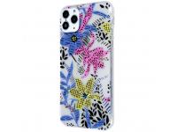 Husa TPU OEM Ultra Trendy Spring Time2 pentru Apple iPhone 11 Pro, Multicolor Transparenta, Bulk