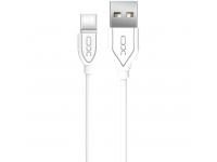 Cablu Date si Incarcare USB la USB Type-C XO Design NB8 2,1A, 1 m, Alb, Blister