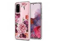 Husa TPU Spigen Ciel pentru Samsung Galaxy S20, Rose Floral, Multicolor Transparenta, Blister ACS00796