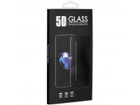 Folie Protectie Ecran OEM pentru Apple iPhone X / Apple iPhone XS / Apple iPhone 11 Pro, Sticla securizata, Full Cover, Full Glue, 0.3mm, 5D, Roz, Blister