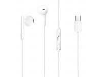 Handsfree Casti EarBuds Dudao X3s, Cu microfon, USB Type-C, Alb, Bulk