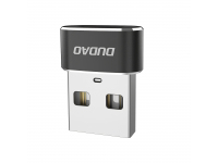 Adaptor Conversie USB Type-C la USB Dudao L16AC, Negru, Blister