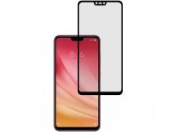 Folie Protectie Ecran Tellur pentru Xiaomi Mi 8 Lite, Sticla securizata, Full Face, Full Glue, 2.5D, Neagra, Blister TLL145505