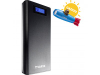 Baterie Externa Powerbank Varta LCD Power, 13000 mA, 2 x USB, Afisaj Led, Neagra, Blister