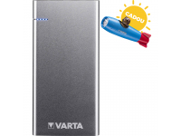 Baterie Externa Powerbank Varta Slim, 6000 mA, 1 x USB - 1 x USB Type-C, Argintie, Blister
