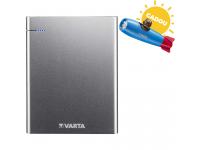 Baterie Externa Powerbank Varta Slim, 18000 mA, 1 x USB - 1 x USB Type-C, Argintie, Blister