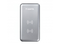 Incarcator Wireless Varta Dual Coil, Fast Wireless, 10W, Argintie