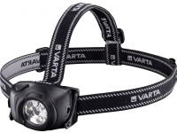 Lanterna Frontala 5 x LED Varta Indestructible H10, Neagra, Blister