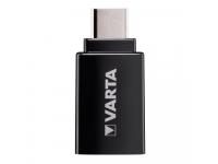 Adaptor OTG USB 3.0 la USB Type-C Varta, Negru, Blister