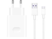 Incarcator Retea cu cablu USB Tip-C Huawei HW-100400E00/CP84, SuperCharge, 40W, 1 X USB, Alb, Bulk
