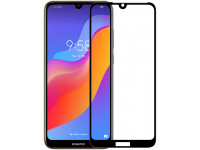 Folie Protectie Ecran OEM pentru Huawei Y6 (2019), Sticla securizata, Full Face, Full Glue, 5D, Neagra, Blister