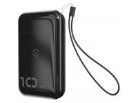Baterie Externa Powerbank Baseus Mini S 18W 10000 mA, 2 x USB, Neagra, Blister PPXFF10W-01