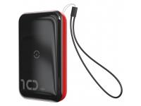 Baterie Externa Powerbank Baseus Mini S 18W 10000 mA, 2 x USB, Neagra - Rosie, Blister PPXFF10W-19