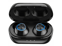 Handsfree Casti Bluetooth Remax TWS-16, cu suport incarcare, SinglePoint, Negru, Blister