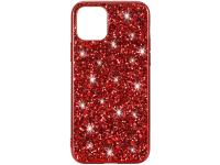 Husa TPU OEM Glitter Powder pentru Apple iPhone 11 Pro Max, Rosie, Bulk
