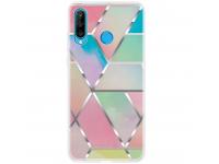 Husa TPU OEM Geometric Marble pentru Huawei P30 lite, Multicolor, Bulk