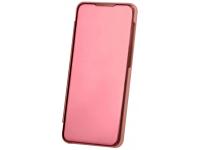 Husa Plastic OEM Clear View pentru Samsung Galaxy A51, Roz Aurie, Blister