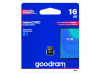 Card Memorie MicroSDHC GoodRam, 16Gb, Clasa 10 / UHS-1 U1, Blister M1A0-0160R12
