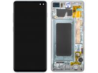 Display - Touchscreen, Cu Rama Albastra (Prism Blue) Samsung Galaxy S10+ G975 GH82-18834C