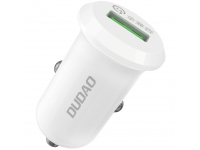 Incarcator Auto USB Dudao Quick Charge 3.0 QC3.0, 4A, 15W R4, 1 X USB, Alb, Blister