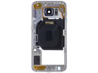 Carcasa Mijloc - Geam Camera Spate Negru Samsung Galaxy S6 G920 GH96-08583A