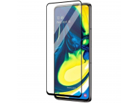 Folie Protectie Ecran Roar pentru Samsung Galaxy A51 A515, Sticla securizata, Full Face, Full Glue, 5D, Neagra, Blister