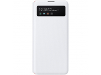 Husa Poliuretan Samsung Galaxy A51 5G A516, S View Wallet, Alba, Blister EF-EA516PWEGEU