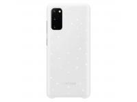 Husa Samsung Galaxy S20 G980 / Samsung Galaxy S20 5G G981, LED Cover, Alba EF-KG980CWEGEU