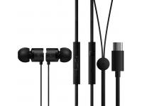Handsfree Casti In-Ear OnePlus Bullets, Cu microfon, USB Type-C, Negru, Blister 1091100041