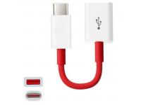Adaptor OTG USB la USB Type-C OnePlus, Rosu, Blister 202003601