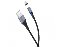 Cablu incarcare USB la MicroUSB XO Design NB125 Magnetic, 2A, 1 m, Negru, Blister