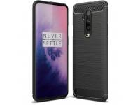 Husa TPU OEM Carbon pentru OnePlus 7T Pro, Neagra, Bulk